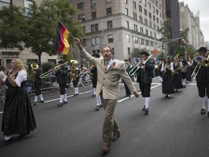 Steuben Parade New Yorker Feiern Deutsche Traditionen