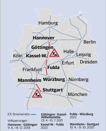 Bahn Sperrt Ab 2019 Ice Hauptstrecken Stadt Ludwigsburg