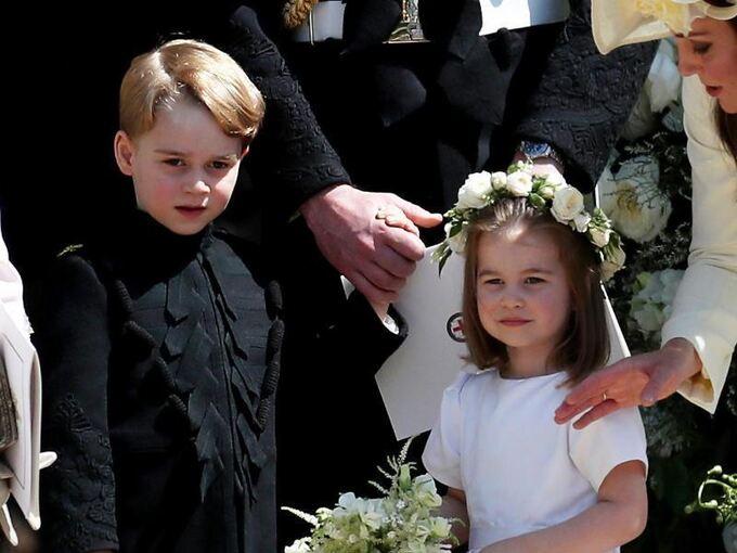 Prinz George Als Pagenjunge Bei Eugenies Hochzeit Uberregionales