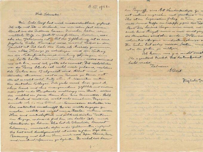 Einstein Brief Für Knapp 28400 Euro Versteigert Lokales