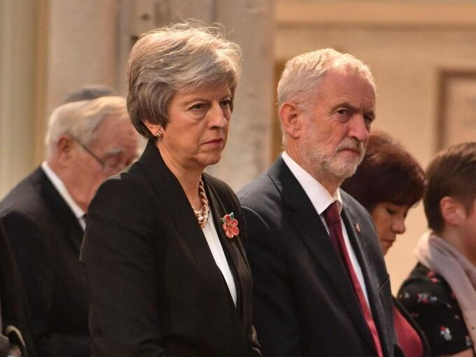 Theresa May und Jeremy Corbyn