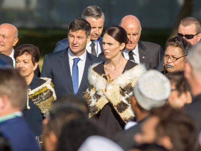 Jacinda Ardern Detail: Christchurch Gedenkt Opfern