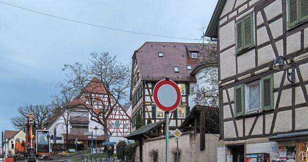 Straßensperrung Ludwigsburg